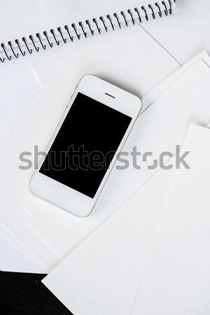 смартфон чистой белый бумаги пусто служба Сток-фото © manera