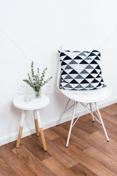 Stock fotó: Egyszerű · dekoráció · tárgyak · minimalista · fehér · belső