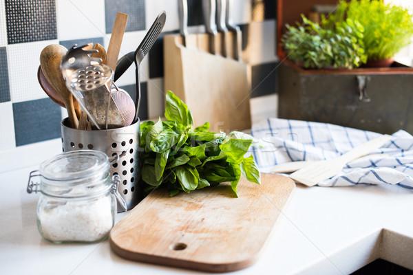 домой кухне базилик совета Сток-фото © manera