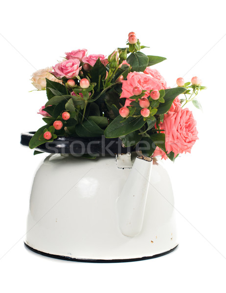 flowers in a tea pot Stock photo © manera