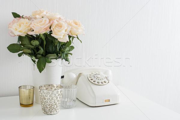 современных интерьер Vintage детали белый Сток-фото © manera