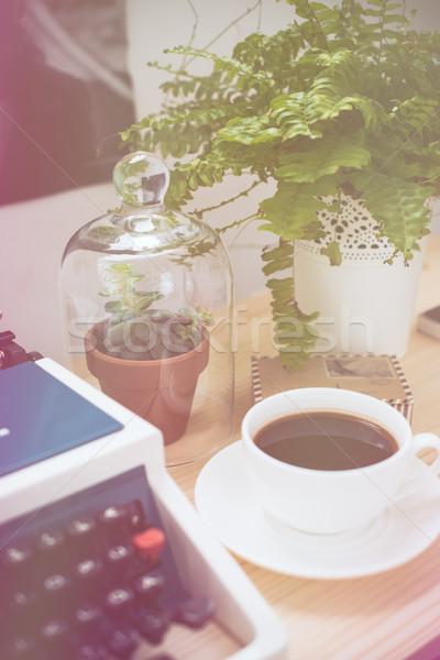 Hipszter munka űr elegáns retro írógép Stock fotó © manera