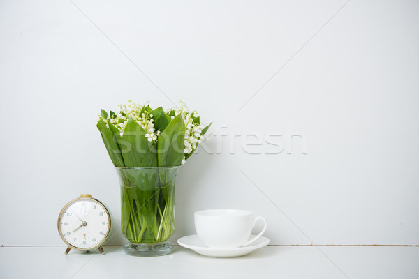 home decoration, lilies of the valley Stock photo © manera