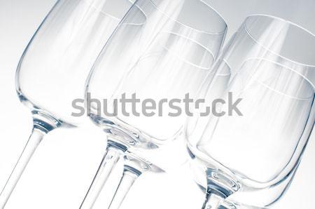 Three glasses of white wine Stock photo © manera