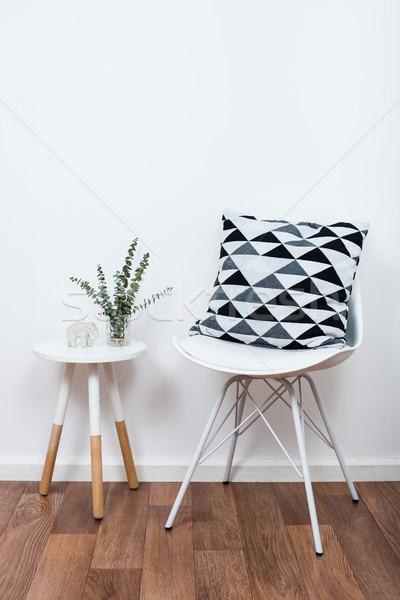 単純な 装飾 オブジェクト ミニマリスト 白 インテリア ストックフォト © manera