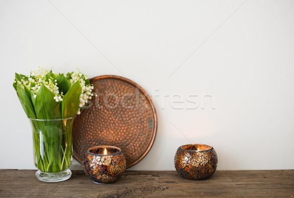 домой украшение долины простой ваза Сток-фото © manera