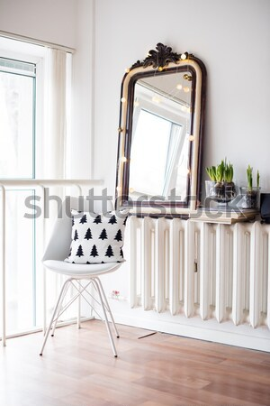Minimalista szoba dekoráció fehér tavasz belső Stock fotó © manera