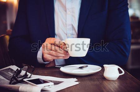 Stock photo: Businessman closeup