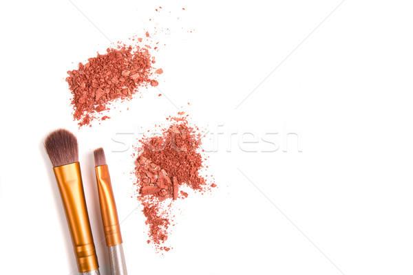 Maquillaje establecer suelto aislado polvo blanco Foto stock © manera
