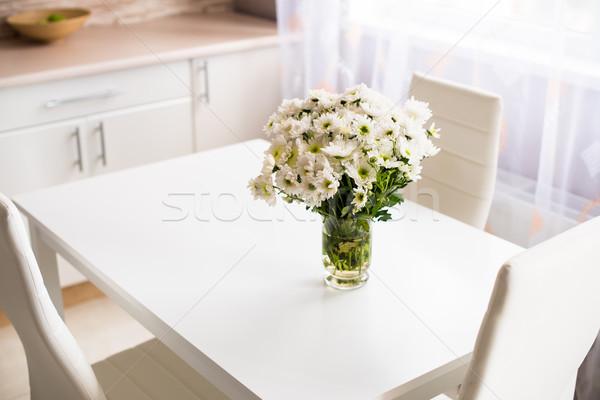 Interni nuovo luminoso bianco home interno cucina Foto d'archivio © manera