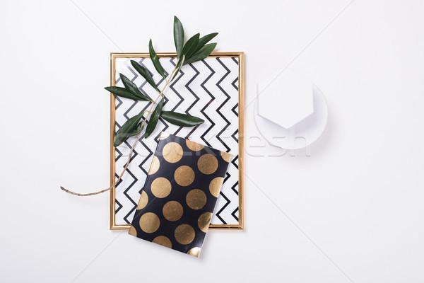 White feminine tabletop flatlay Stock photo © manera