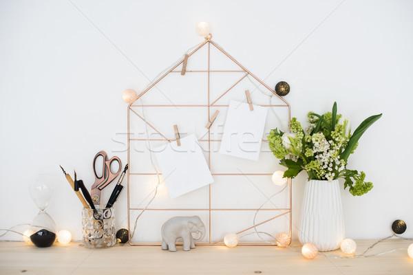 Feminine hipster office table decoration  Stock photo © manera