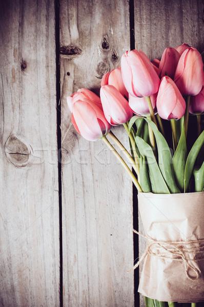 fresh spring pink tulips Stock photo © manera