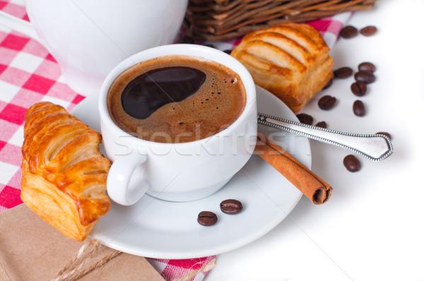 завтрак красивой кофе скатерть Сток-фото © manera