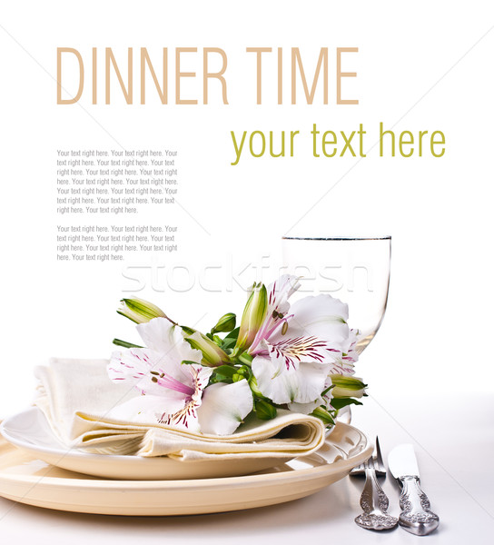 Table setting template Stock photo © manera