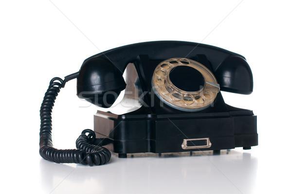 black rotary phone Stock photo © manera