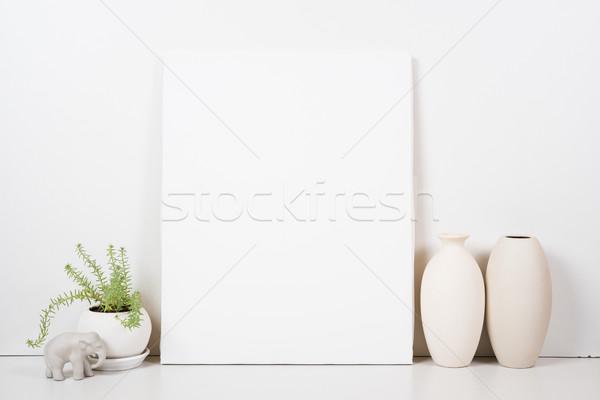 üres keret festmény művészet poszter belső Stock fotó © manera