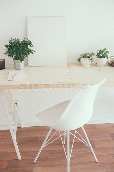 ストックフォト: スタイル · スタートアップ · 作業 · スペース · 白 · ミニマリスト