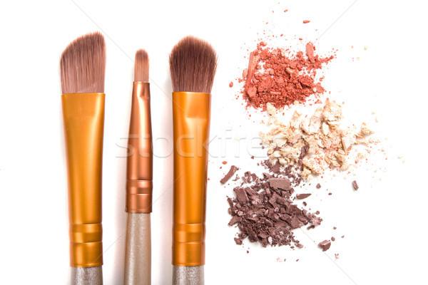 ストックフォト: 化粧 · セット · 緩い · 孤立した · 白