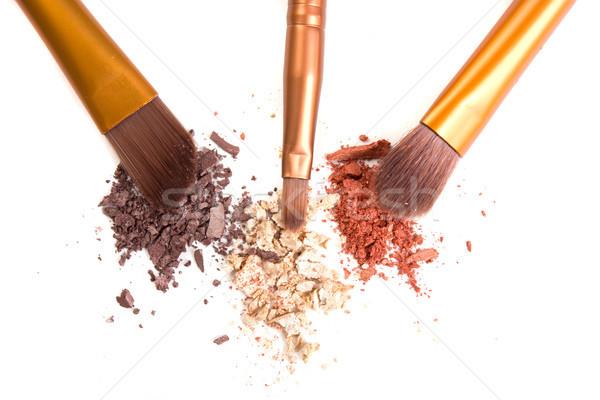 Photo stock: Maquillage · détacher · isolé · poudre · blanche