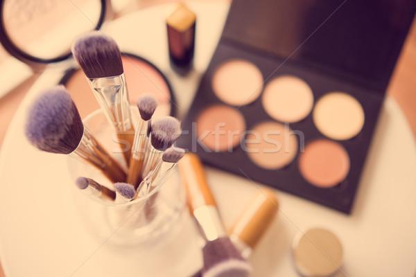 Professional makeup brushes and tools Stock photo © manera
