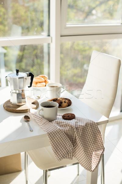Francese home colazione caffè cookies Foto d'archivio © manera