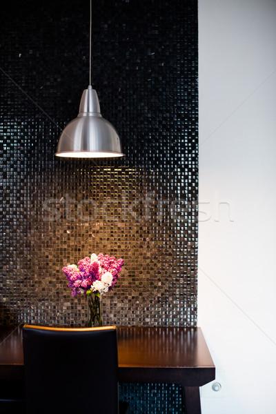 Moderne keuken interieur bos tabel lokaal Stockfoto © manera