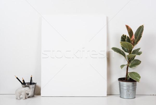 ストックフォト: 空っぽ · フレーム · 絵画 · 芸術 · ポスター · インテリア