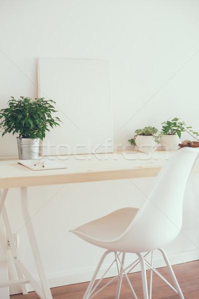 Style démarrage travaux espace blanche Photo stock © manera
