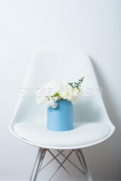 Сток-фото: букет · белый · окна · Председатель · цветы · стены