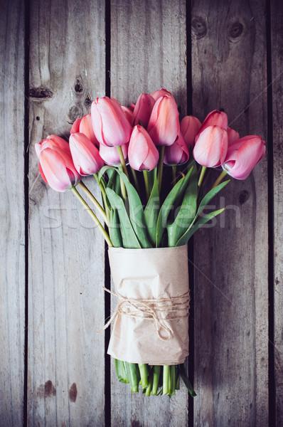 свежие весны розовый тюльпаны старые Сток-фото © manera