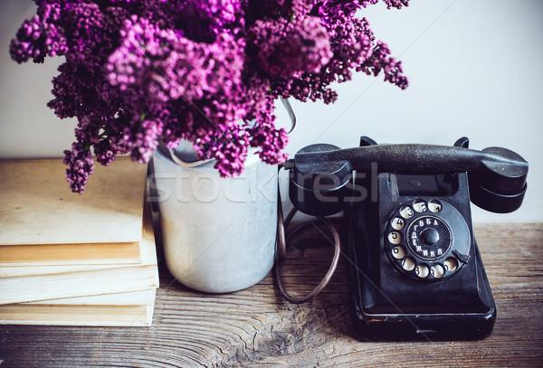 Foto stock: Interior · decoración · casa · ramo · jarrón · vintage