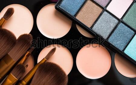 Stock fotó: Profi · smink · szerszámok · termékek · szett · természetes