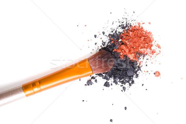 Foto stock: Profesional · suelto · polvo · aislado · blanco