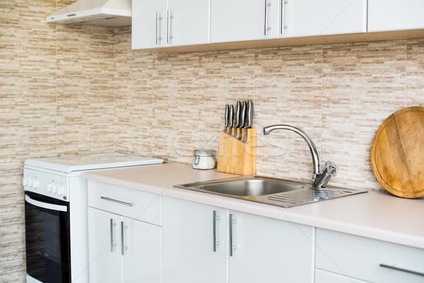 インテリア 新しい 明るい 白 ホーム キッチンのインテリア ストックフォト © manera