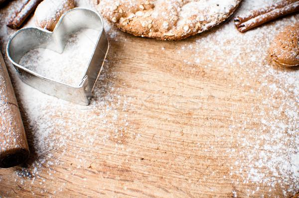 Christmas and holiday baking background Stock photo © manera