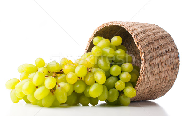 white grapes in a wicker basket  Stock photo © manera