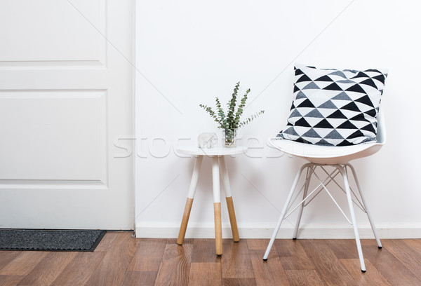 Сток-фото: простой · объекты · белый · интерьер