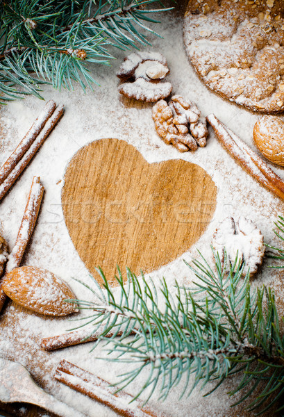 Christmas and holiday baking, ready template Stock photo © manera