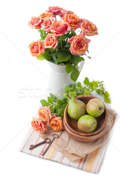 Arrangement with roses and pears  Stock photo © manera