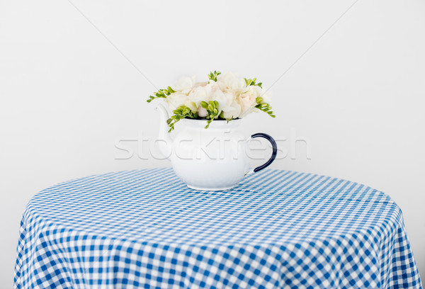 bouquet of white roses and freesias Stock photo © manera