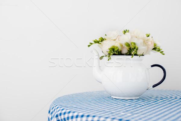 Buquê branco rosas fresco verão vintage Foto stock © manera