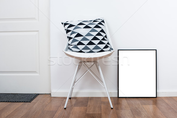 simple decor objects and art poster mock-up Stock photo © manera