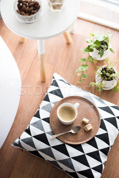 Stílus hipszter belső kényelmes padlás szoba Stock fotó © manera
