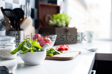 home interior of modern kitchen Stock photo © manera