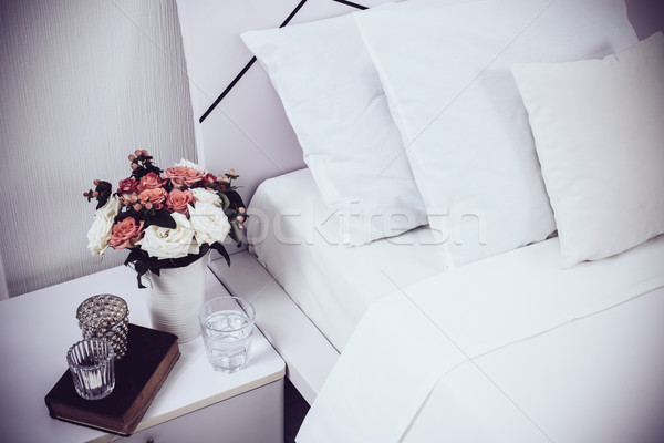 Bedside table decor Stock photo © manera