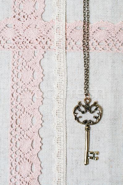ключевые природного ткань кружево Vintage Сток-фото © manera