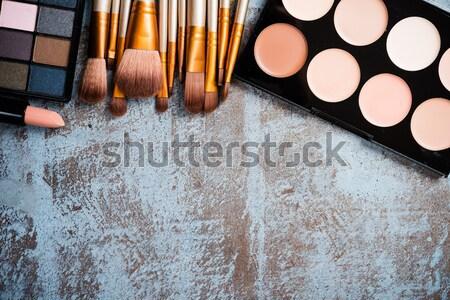 Profi smink szerszámok gyűjtemény termékek szett Stock fotó © manera