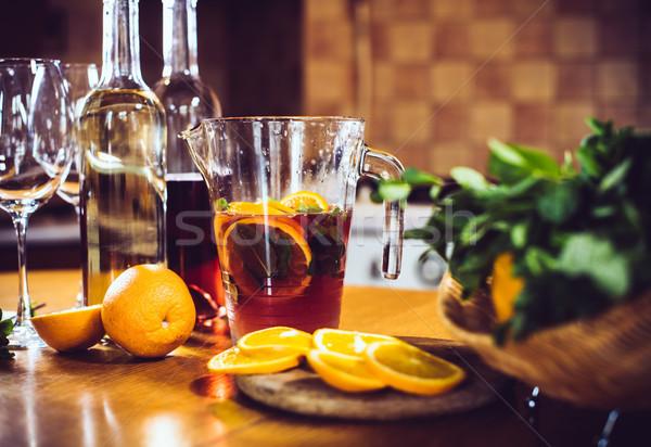 большой банку апельсинов льда домой Сток-фото © manera