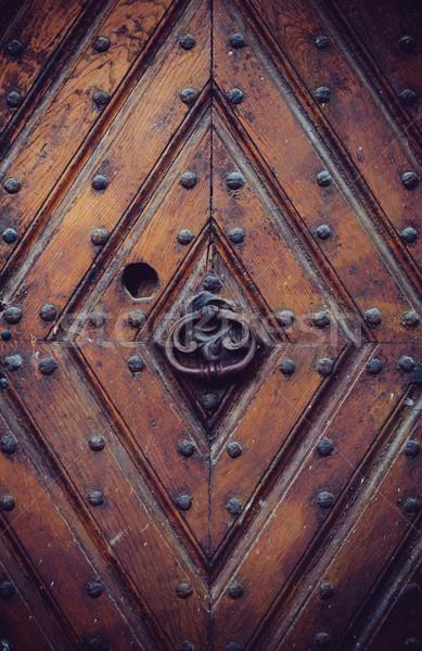 ancient wooden door Stock photo © manera